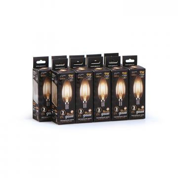 Филаментная светодиодная лампа Gauss 103801109 свеча E14 9W, 2700K (теплый) CRI>90 150-265V, гарантия 3 года - миниатюра 4