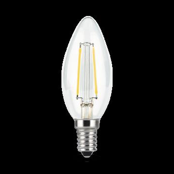 Филаментная светодиодная лампа Gauss 103801209 свеча E14 9W, 4100K (холодный) CRI>90 150-265V, гарантия 3 года - миниатюра 2