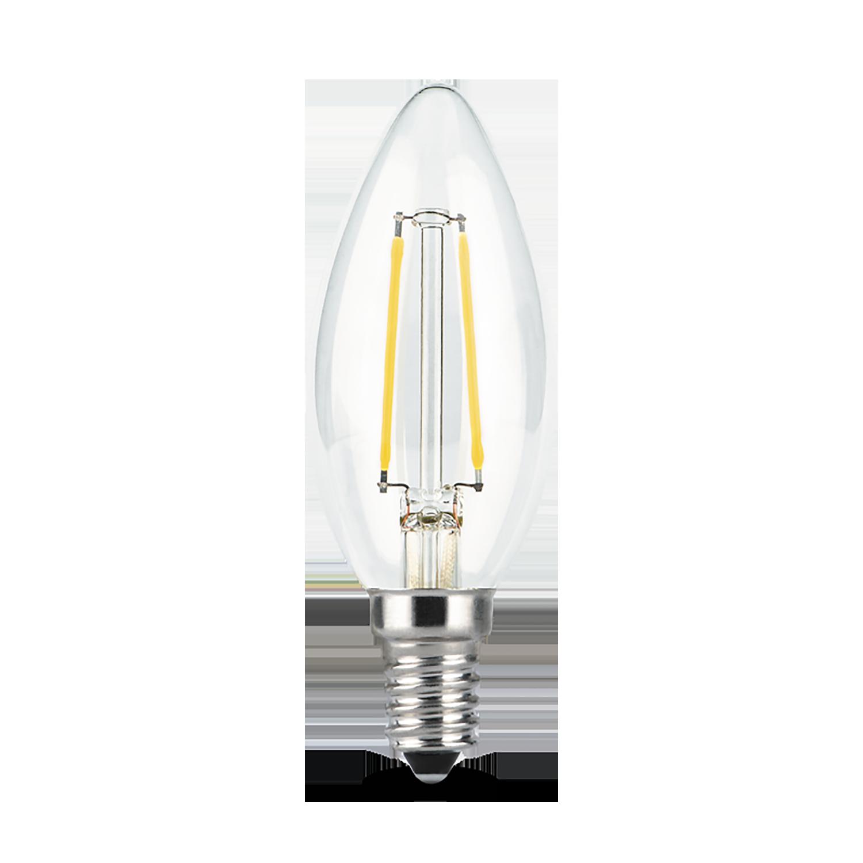 Филаментная светодиодная лампа Gauss 103801209 свеча E14 9W, 4100K (холодный) CRI>90 150-265V, гарантия 3 года - фото 2