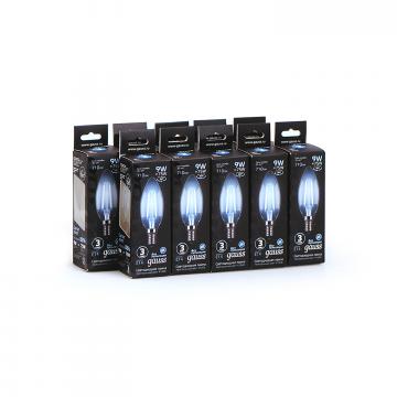 Филаментная светодиодная лампа Gauss 103801209 свеча E14 9W, 4100K (холодный) CRI>90 150-265V, гарантия 3 года - миниатюра 4