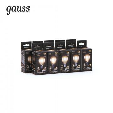 Филаментная светодиодная лампа Gauss 105801109 шар E14 9W, 2700K (теплый) CRI>90 150-265V, гарантия 3 года - миниатюра 2