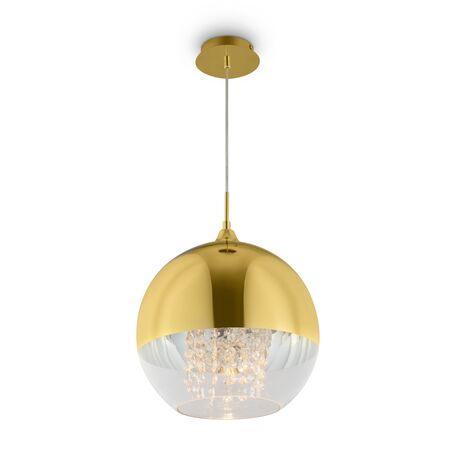 Светильник Maytoni Fermi P140-PL-170-1-G, 1xE27x60W, золото, золото с прозрачным, прозрачный, металл, стекло