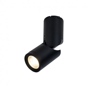 Потолочный светодиодный светильник с регулировкой направления света Maytoni Tube C019CW-01B, LED 10W, 3000K (теплый), черный, металл