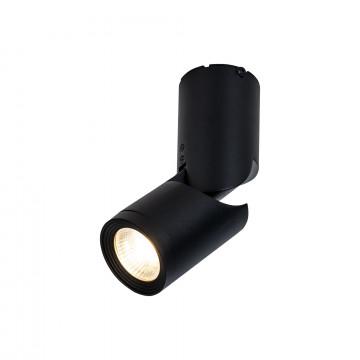 Потолочный светодиодный светильник с регулировкой направления света Maytoni Tube C019CW-01B, LED 10W 3000K 800lm CRI80, черный, металл