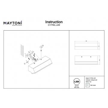 Настенный светильник Maytoni Toni C177WL-L4W, белый, металл, пластик