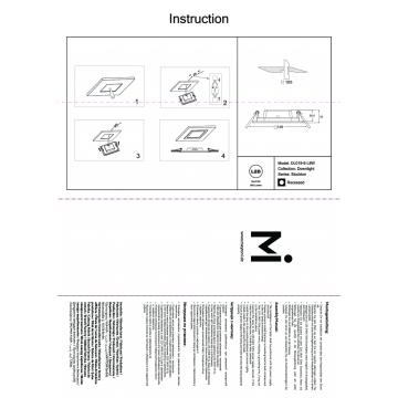 Встраиваемая светодиодная панель Maytoni Stockton DL019-6-L9W, IP44, белый, пластик