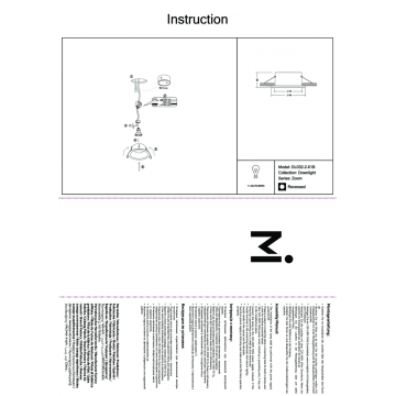 Встраиваемый светильник Maytoni Zoom DL032-2-01B, IP65, черный, металл