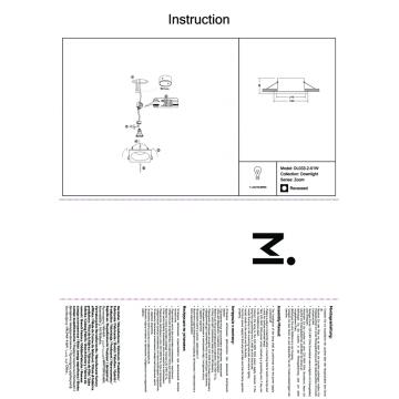 Встраиваемый светильник Maytoni Zoom DL033-2-01W, IP65, белый, металл