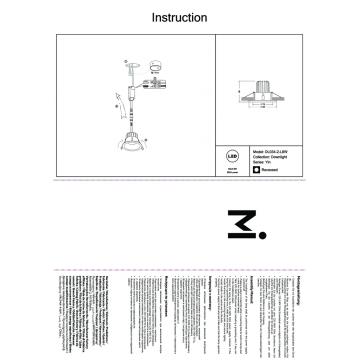 Встраиваемый светильник Maytoni Yin DL034-2-L8W, IP65, белый, металл
