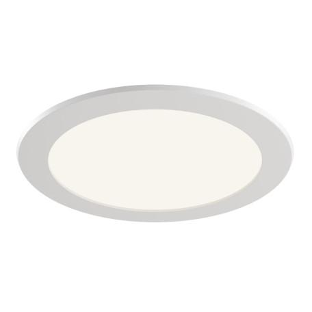 Светодиодная панель Maytoni Stockton DL017-6-L18W, IP44, LED 18W 3000K 1600lm CRI83, белый, пластик