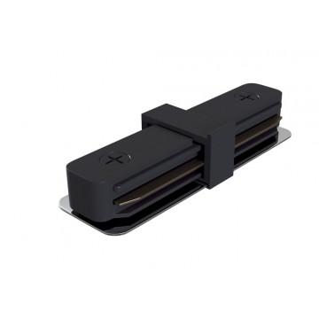 Внутренний прямой соединитель для шинопровода Maytoni Accessories for tracks TRA001C-11B, черный, пластик