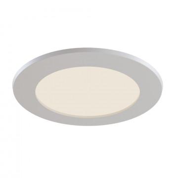 Встраиваемая светодиодная панель Maytoni Stockton DL016-6-L12W, IP44, LED 12W 2800-6000K 1100lm CRI83, белый, пластик