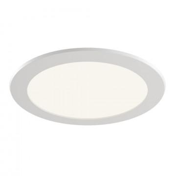 Встраиваемая светодиодная панель Maytoni Stockton DL017-6-L18W, IP44, LED 18W 3000K 1600lm CRI83, белый, пластик