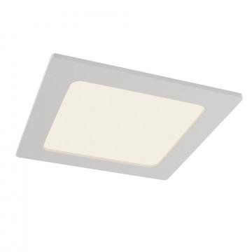 Встраиваемая светодиодная панель Maytoni Stockton DL020-6-L12W, IP44, LED 12W 2800-6000K 1000lm CRI83, белый, пластик