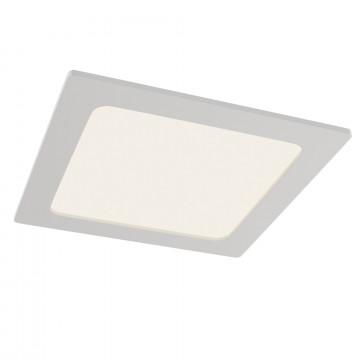 Встраиваемая светодиодная панель Maytoni Stockton DL021-6-L18W, IP44, LED 18W 3000K 1600lm CRI83, белый, пластик