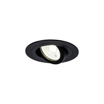 Встраиваемый светильник Maytoni Atom DL023-2-01B, 1xGU10x50W, черный, металл
