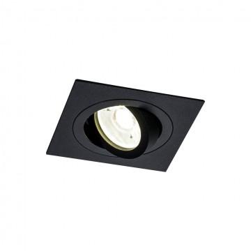Встраиваемый светильник Maytoni Atom DL024-2-01B, 1xGU10x50W, черный, металл