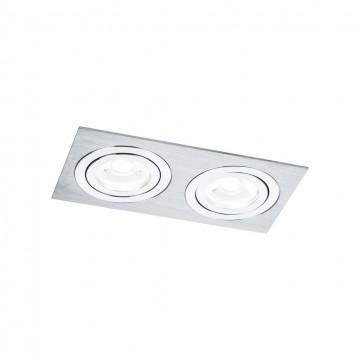 Встраиваемый светильник Maytoni Atom DL024-2-02S, 2xGU10x50W, серебро, металл