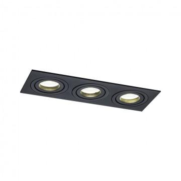 Встраиваемый светильник Maytoni Atom DL024-2-03B, 3xGU10x50W, черный, металл