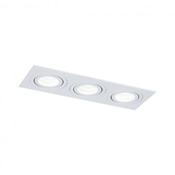 Встраиваемый светильник Maytoni Atom DL024-2-03W, 3xGU10x50W, белый, металл