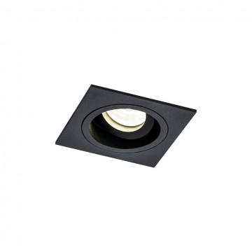 Встраиваемый светильник Maytoni Akron DL026-2-01B, 1xGU10x50W, черный, металл