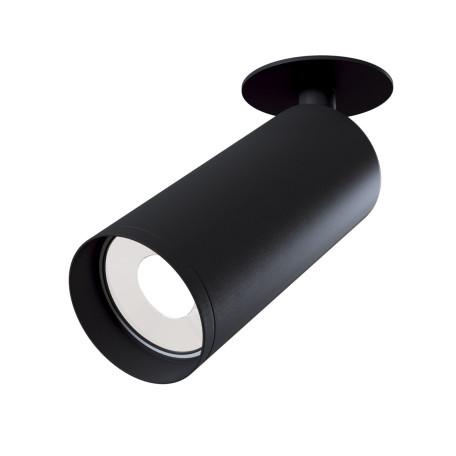 Встраиваемый светильник с регулировкой направления света Maytoni Focus C018CL-01B, 1xGU10x50W, черный, металл