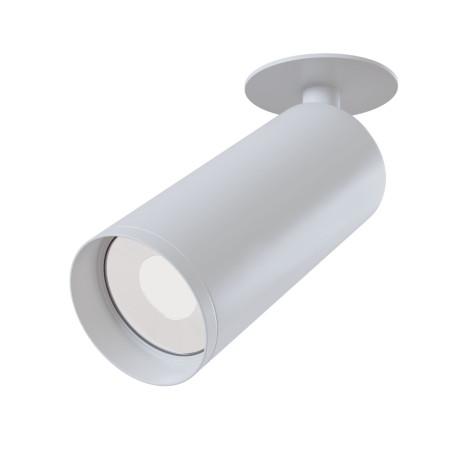 Встраиваемый светильник с регулировкой направления света Maytoni Focus C018CL-01W, 1xGU10x50W, белый, металл