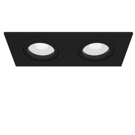 Встраиваемый светильник Maytoni Atom DL024-2-02B, 2xGU10x50W, черный, металл