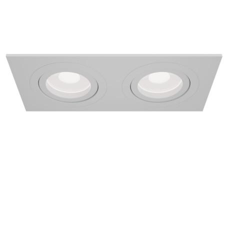 Встраиваемый светильник Maytoni Atom DL024-2-02W, 2xGU10x50W, белый, металл