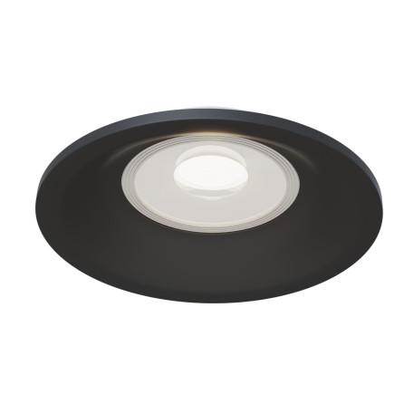 Встраиваемый светильник Maytoni Slim DL027-2-01B, 1xGU10x50W, черный, металл