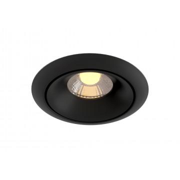 Встраиваемый светодиодный светильник Maytoni Zoom DL031-2-L8B, LED 8W 3000K 650lm CRI80, черный, металл