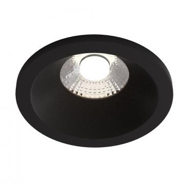 Встраиваемый светодиодный светильник Maytoni Zoom DL034-2-L8B, IP65, LED 8W 3000K 650lm CRI80, черный, металл