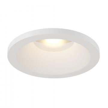 Встраиваемый светодиодный светильник Maytoni Zoom DL034-2-L8W, IP65, LED 8W 3000K 650lm CRI80, белый, металл