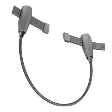 Соединитель для гибкого токопровода Arte Lamp Instyle A152027, серебро, пластик