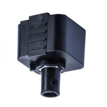 Крепление-адаптер для монтажа светильника на трек Arte Lamp Instyle A240006, черный, пластик, металл