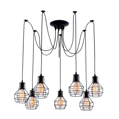 Люстра-паук Arte Lamp Spider A1109SP-7BK, 7xE27x60W, черный, металл