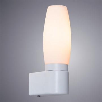 Бра Arte Lamp Aqua A1209AP-1WH, IP44, 1xE14x40W, белый, металл, стекло