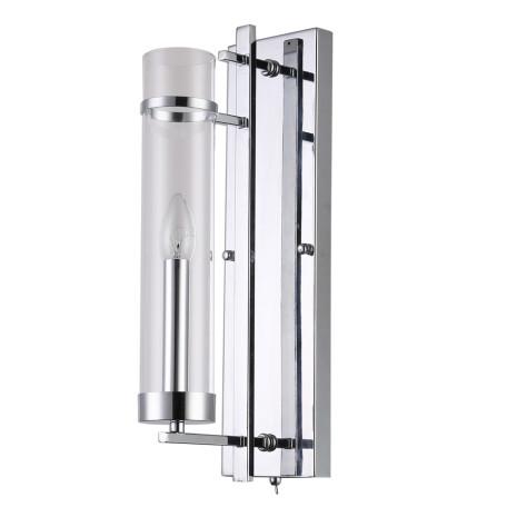 Настенный светильник Arte Lamp Hugo A1688AP-1CC, 1xE14x60W, хром, прозрачный, металл, стекло