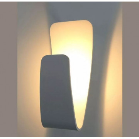 Настенный светодиодный светильник Arte Lamp Instyle Virgola A1418AP-1GY, LED 5W 3000K 300lm CRI≥80, серый, металл