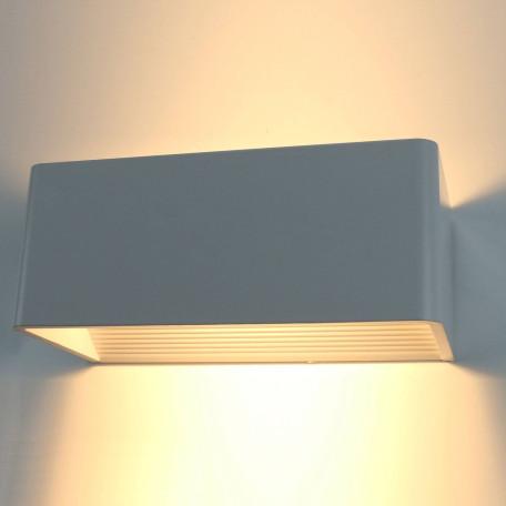 Настенный светодиодный светильник Arte Lamp Instyle Cassetta A1422AP-1GY 3000K (теплый), серый, металл