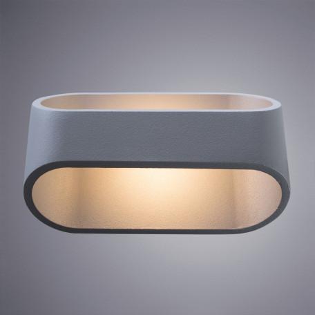 Настенный светодиодный светильник Arte Lamp Instyle Maniglia A1428AP-1GY 3000K (теплый), серый, металл