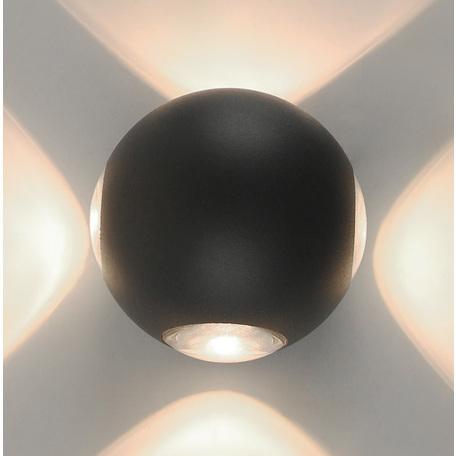 Настенный светодиодный светильник Arte Lamp Instyle Conrad A1544AL-4GY, IP54, LED 1W 3000K 320lm CRI≥80, серый, металл, пластик