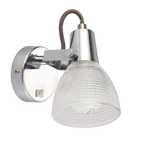 Настенный светильник с регулировкой направления света Arte Lamp Ricardo A1026AP-1CC, 1xE14x40W, хром, прозрачный, металл, стекло