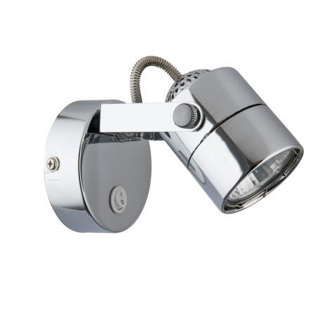 Настенный светильник с регулировкой направления света Arte Lamp Lente A1310AP-1CC, 1xGU10x50W, хром, металл
