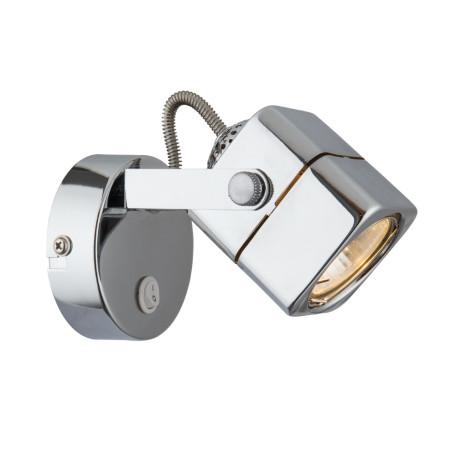 Настенный светильник с регулировкой направления света Arte Lamp Lente A1314AP-1CC, 1xGU10x50W, хром, металл
