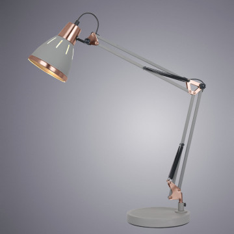 Настольная лампа Arte Lamp Pixar A2246LT-1GY, 1xE27x40W, серый, металл - миниатюра 2