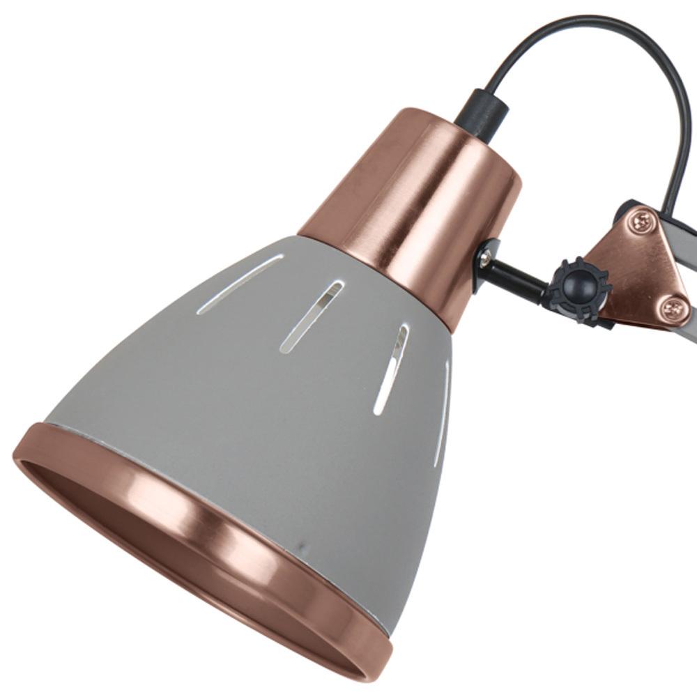 Настольная лампа Arte Lamp Pixar A2246LT-1GY, 1xE27x40W, серый, металл - фото 4