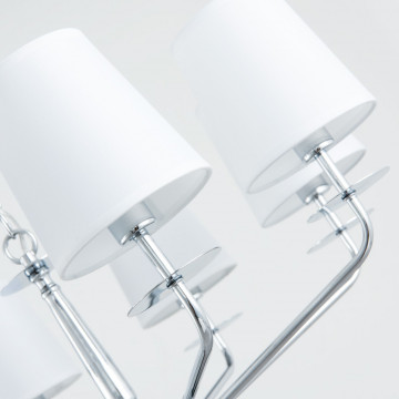 Подвесная люстра Arte Lamp Edda A1048LM-8CC, 8xE14x40W, хром, белый, металл, текстиль - миниатюра 3
