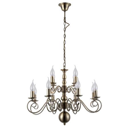 Подвесная люстра Arte Lamp Isabel A1129LM-12AB, 12xE14x40W, бронза, металл