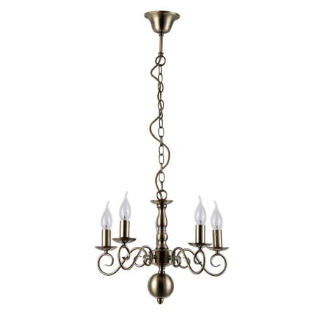 Подвесная люстра Arte Lamp Isabel A1129LM-5AB, 5xE14x40W, бронза, металл